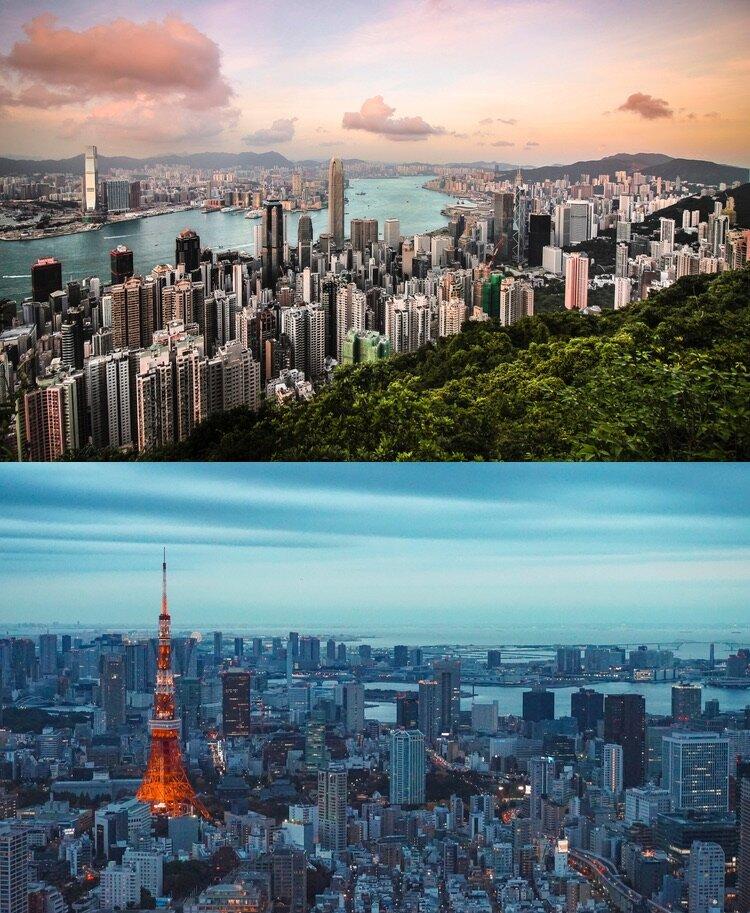 Hong Kong har förlorat turister pga de stora demonstrationerna under sommaren. Många andra asiatiska har istället ökat; mest har dock Tokyo ökat som fått nästan 88% fler svenska turister.  Foto: Florian Wehde och Louis Martinez, båda via Unsplash