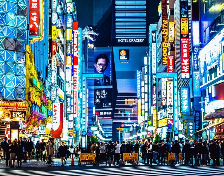 En vanlig kväll i Shinjuku..  Foto: Eric Eastman via Unsplash