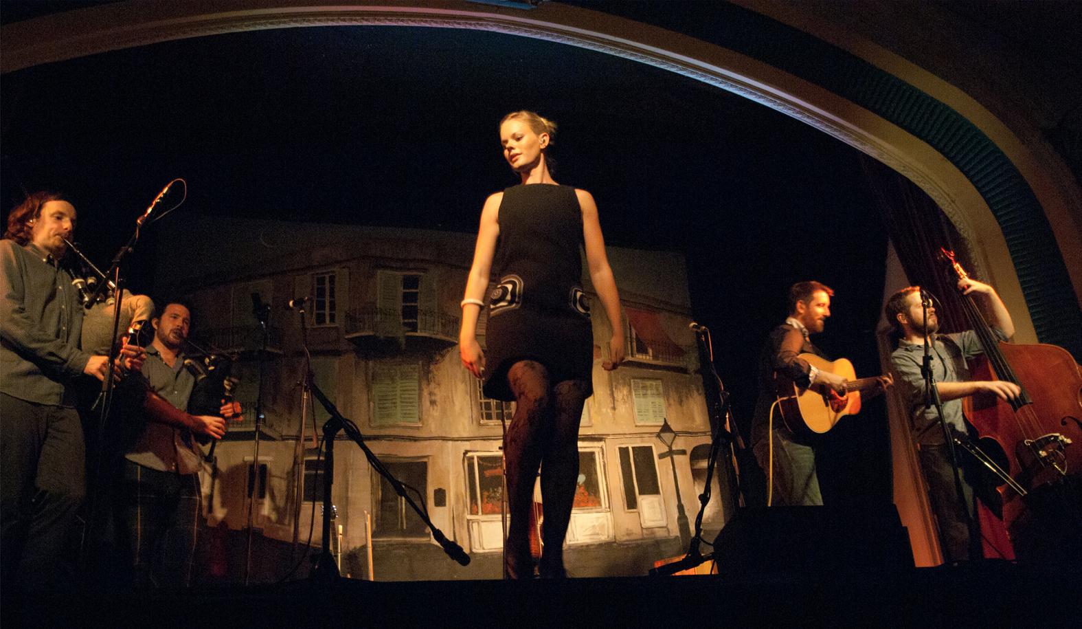 Megan Henderson. Sublime fiddle, heartbreaking voice and step dancer par excellence.  The Caravan Club, Australasian Tour, 2014