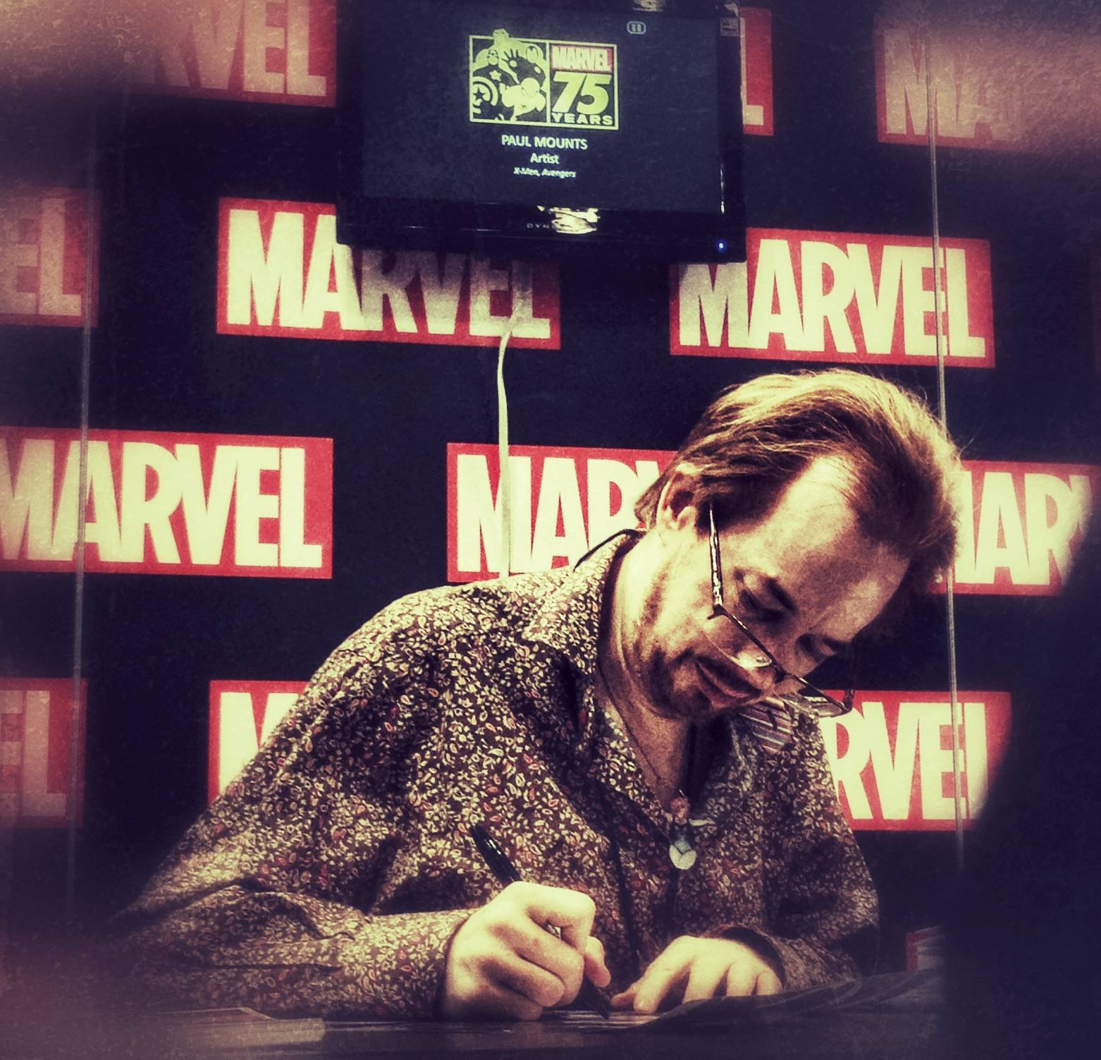 Signing at the Marvel booth