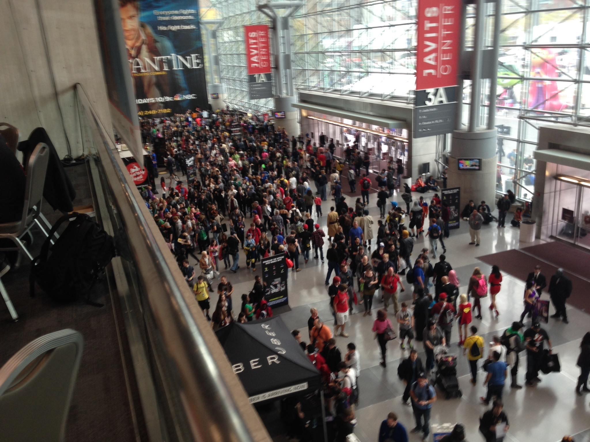 150,00 people through tis weekend - bigger than San Diego Con?