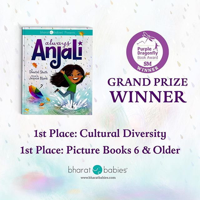Got some good news! Always Anjali won a couple of Purple Dragonfly book awards! 💜💜💜 @beneaththesheetz @bharatbabies @storymonsters