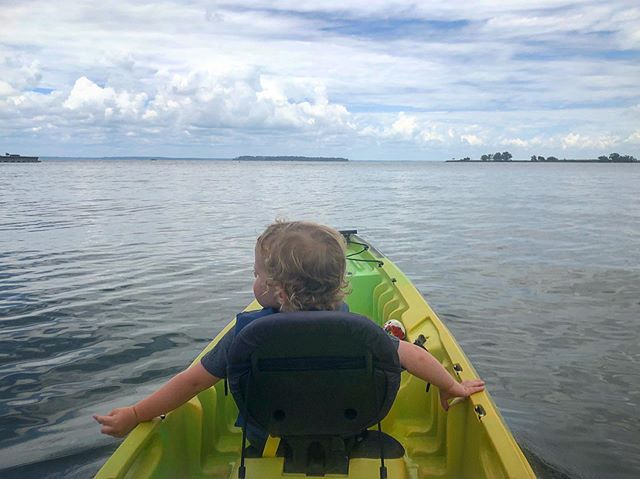 Not exactly a paddling trail, but I took my Little for his first paddle in a kayak during his first visit to @lakelivingstonsp 💦 He had a lot of fun and I'm hoping it works well enough for our paddling entry for #goshtx