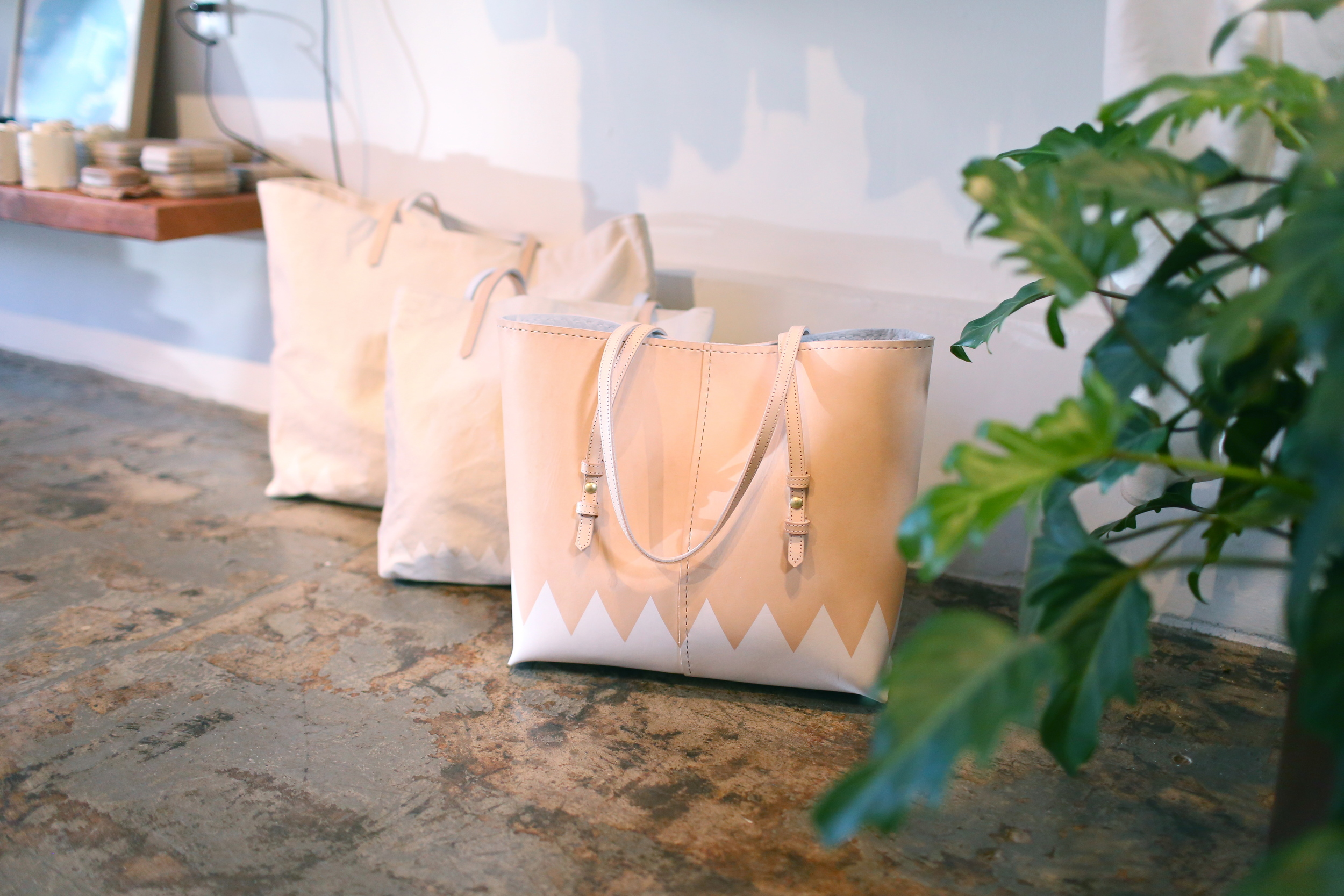 Spring/Summer 2014 structured tote + canvas totes