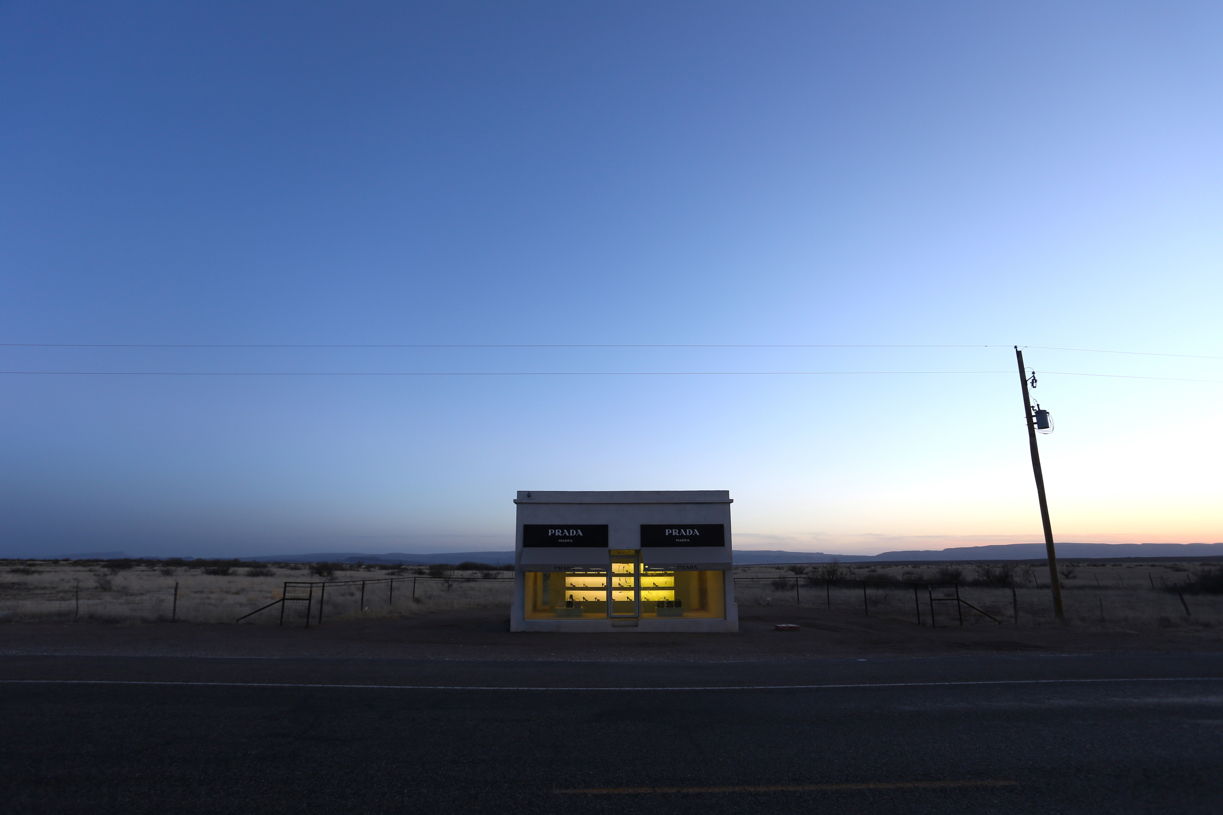 PRADA Marfa, by Michael Elmgreen + Ingar Dragset