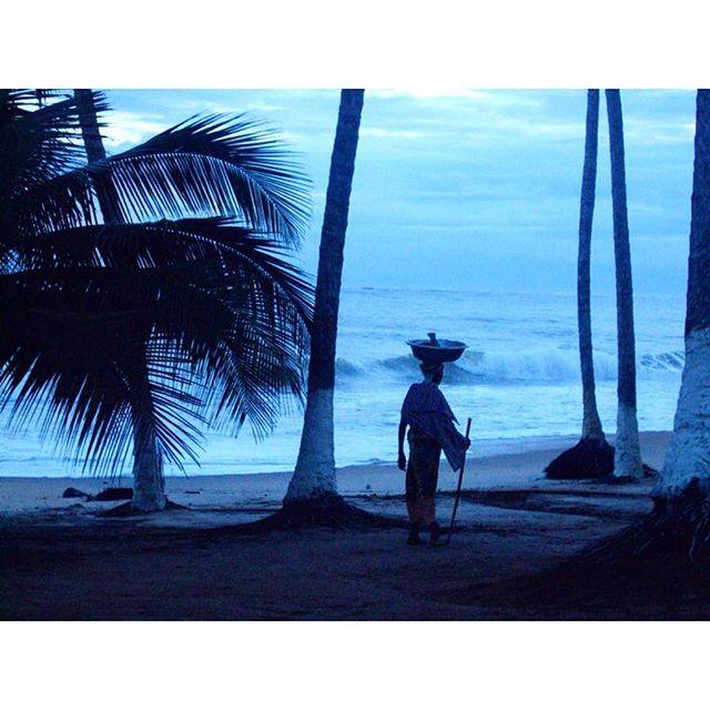 One new blue morning in Ghana.