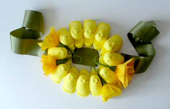 A tip for crafting with peeps is to let them get a little stale.