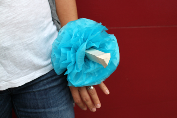 My first prototype was a gift topper that could convert into a wrist corsage for the evening.