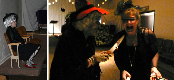 2009 A Witch (hard to dig a picture up for this year). Pictured left my grandma dressed as a witch trying to kill my mom dressed as a black widow (maker).