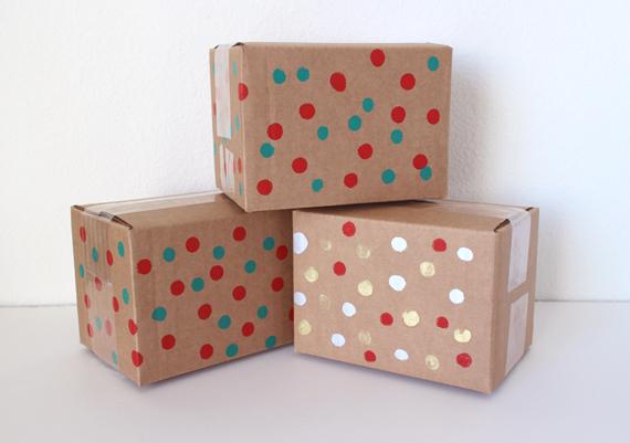 My Etsy shipments get the polka dot treatment to.