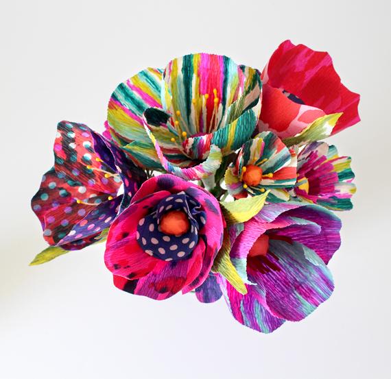 Tie Dye Paper Flowers