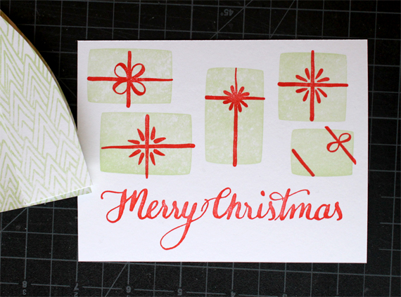 A new letterpress holiday card.