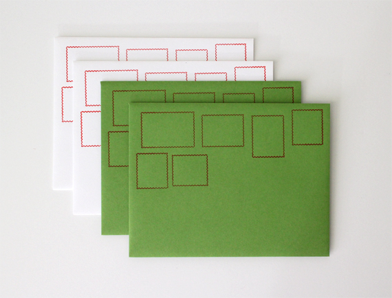 New mail art envelopes in Christmas colors will be in December's mailing. They're also available for purchase in  my shop!