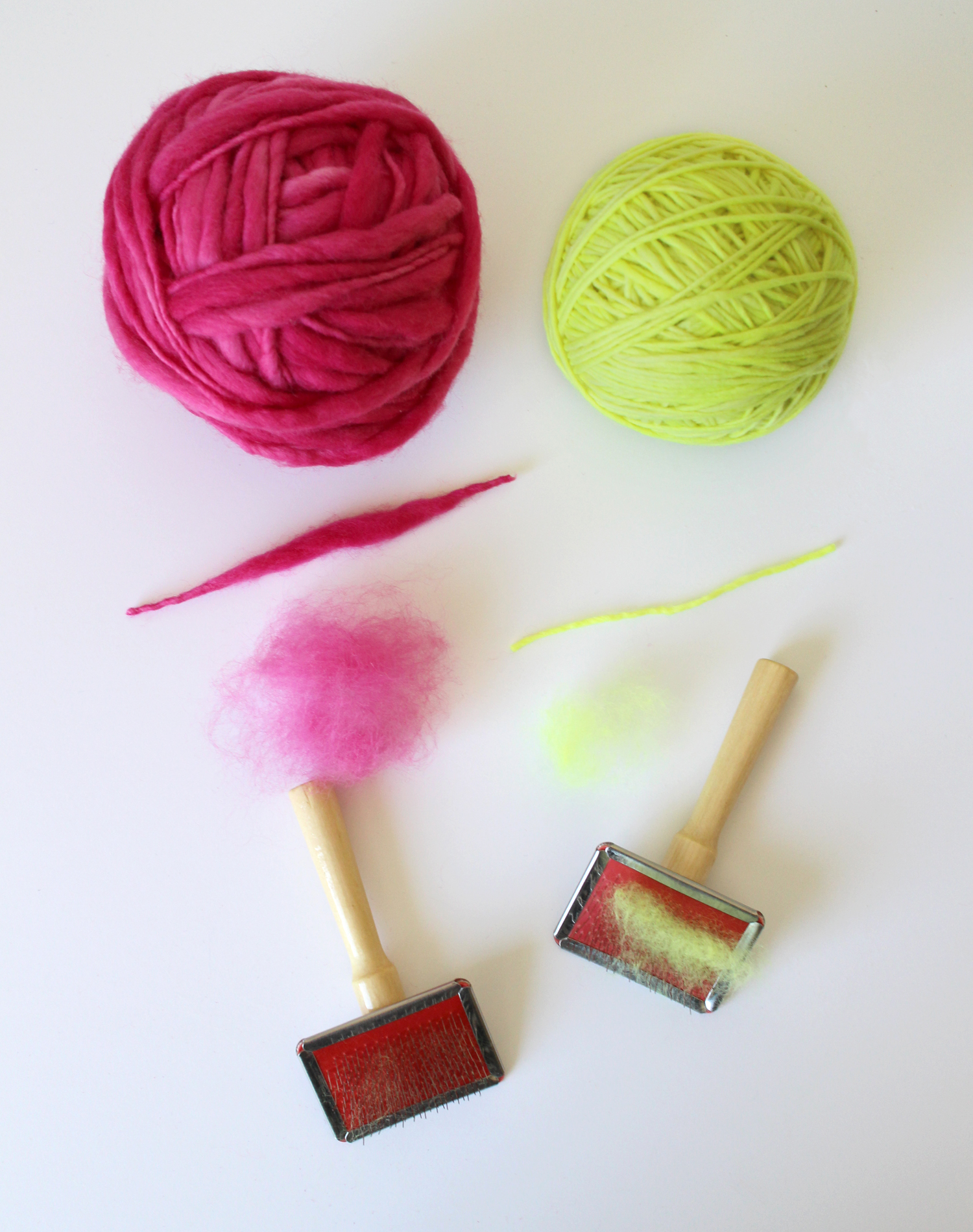 Using yarn instead of wool roving