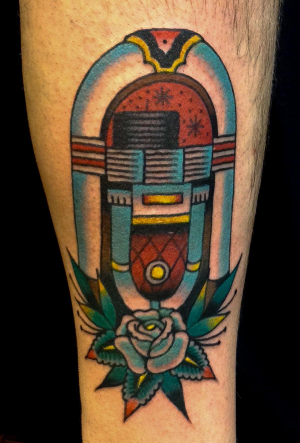 Nick Melody Name Brand Tattoo Ann Arbor MI