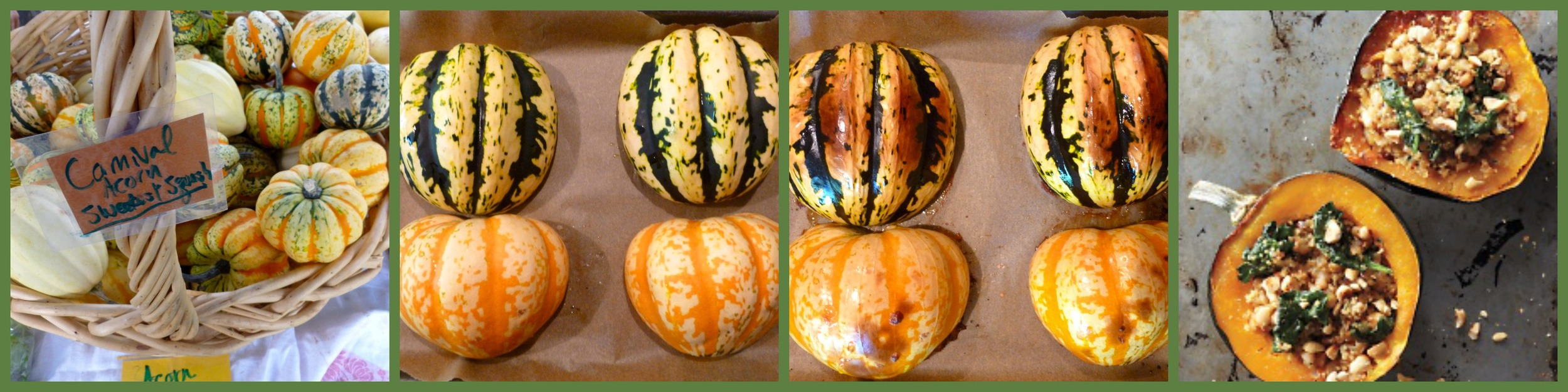 I used carnival squash! Yummy flavor! Roast the squash, stuff, bake, enjoy!