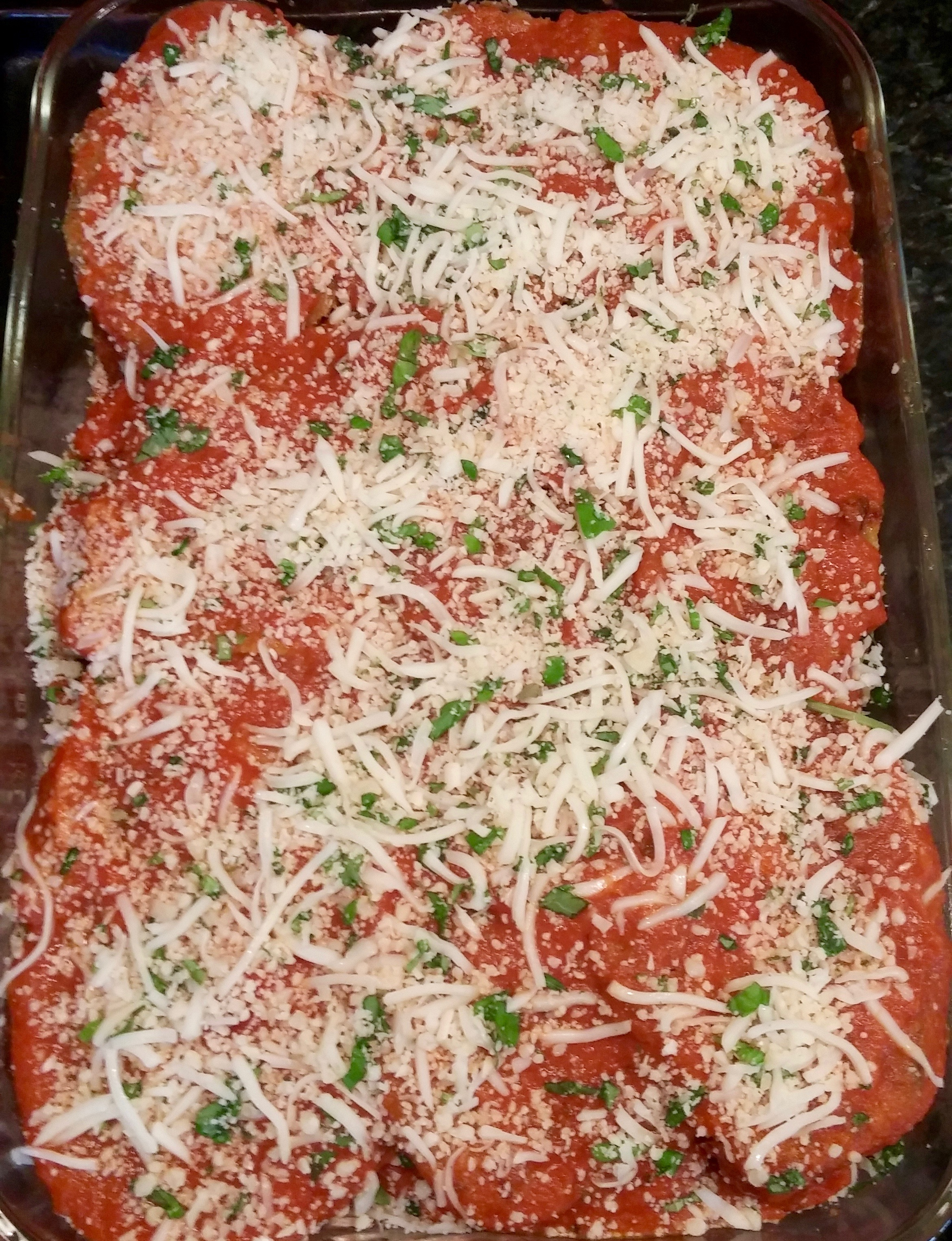 Ready for the oven . . .