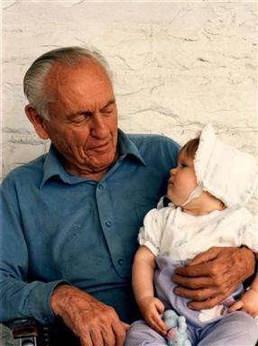 Jenelle and her grandpa.