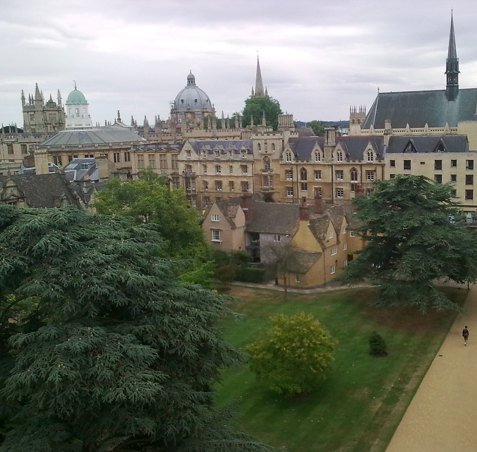 View from bell tower at Trinity College
