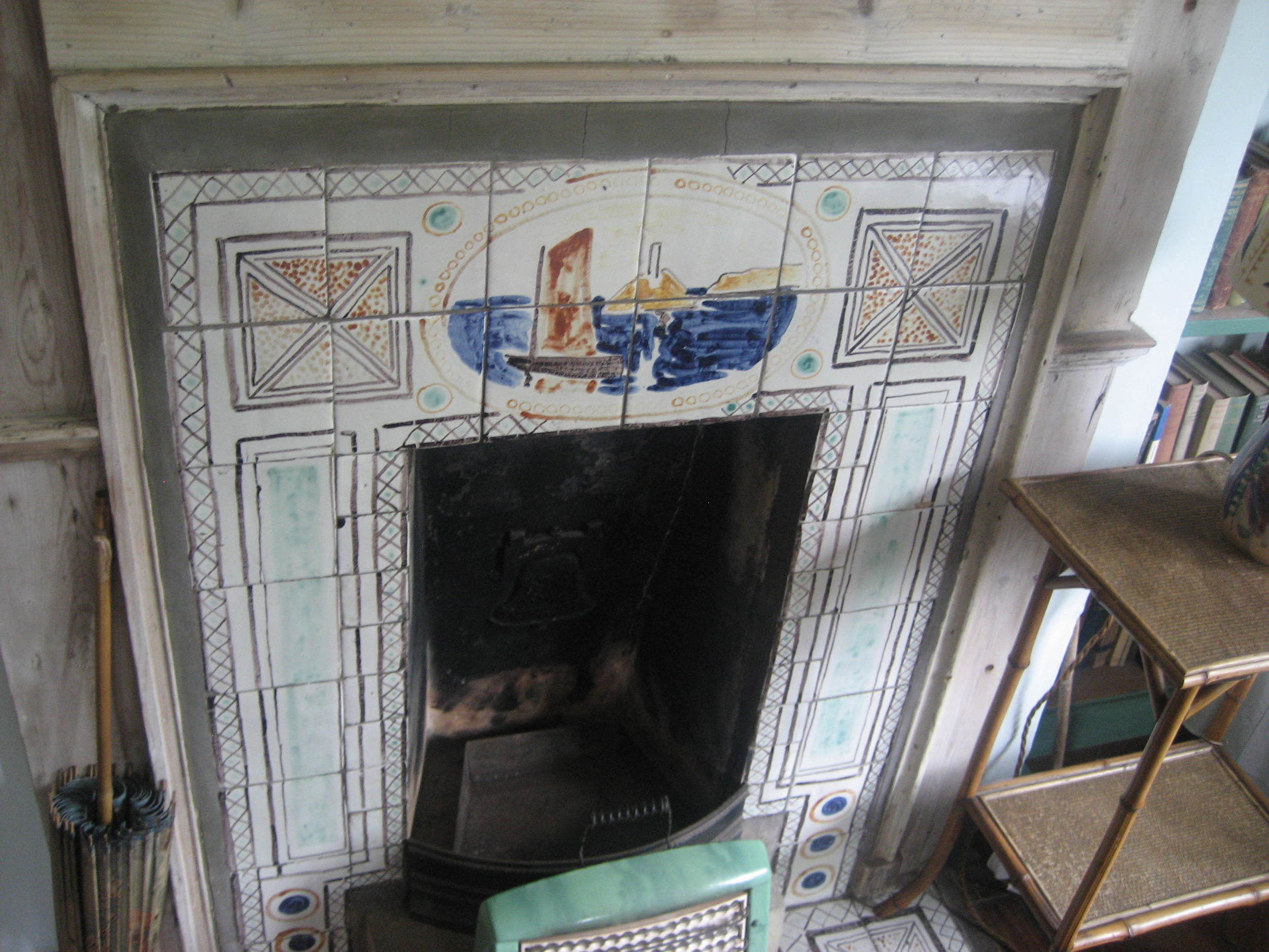 To the Lighthouse fireplace by Vanessa Bell and inspiration for Woolf's novel