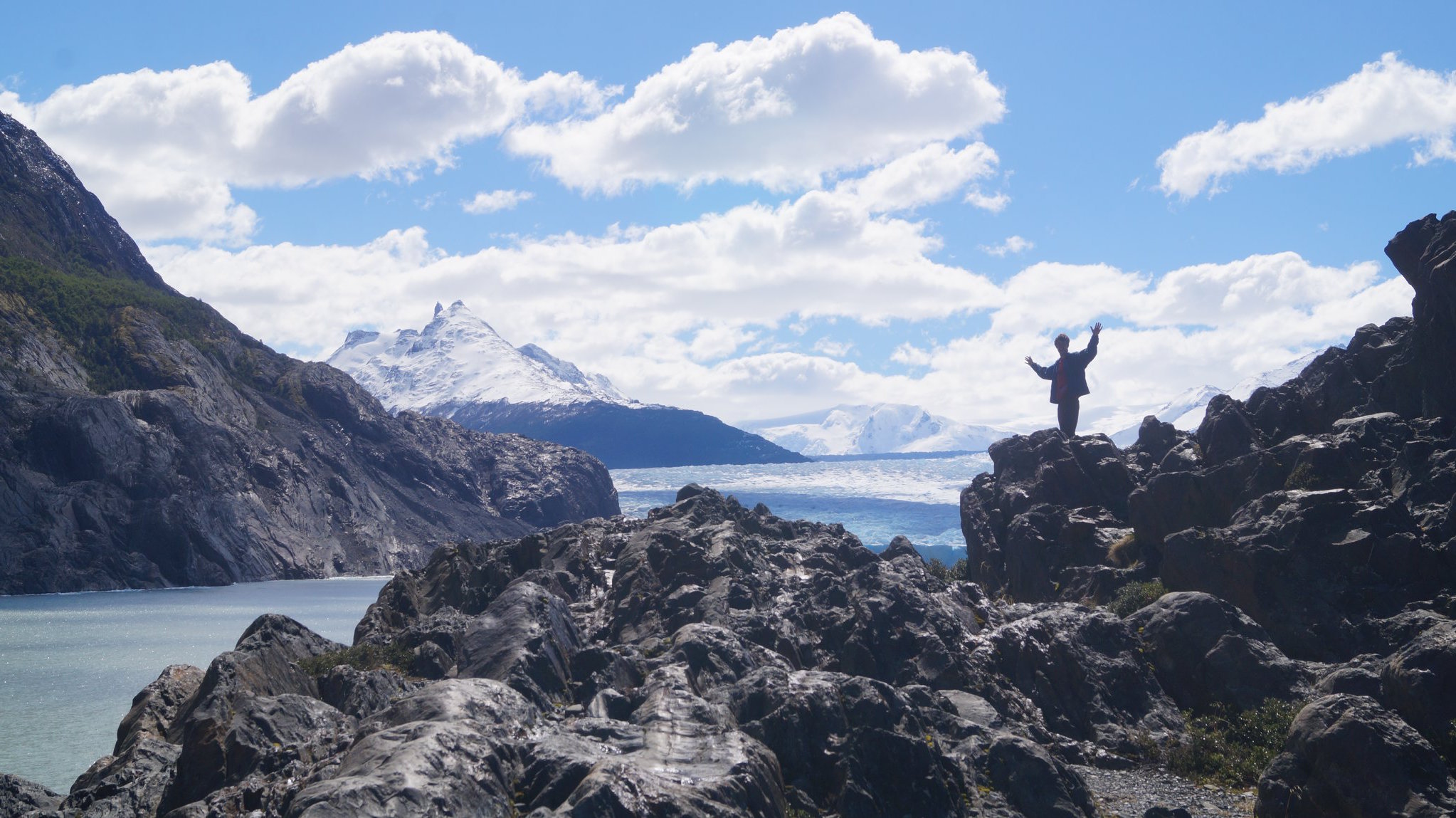Reaching the remote Grey Glacier in Chilean Patagonia, which loses acres of ice annually due to climate change.