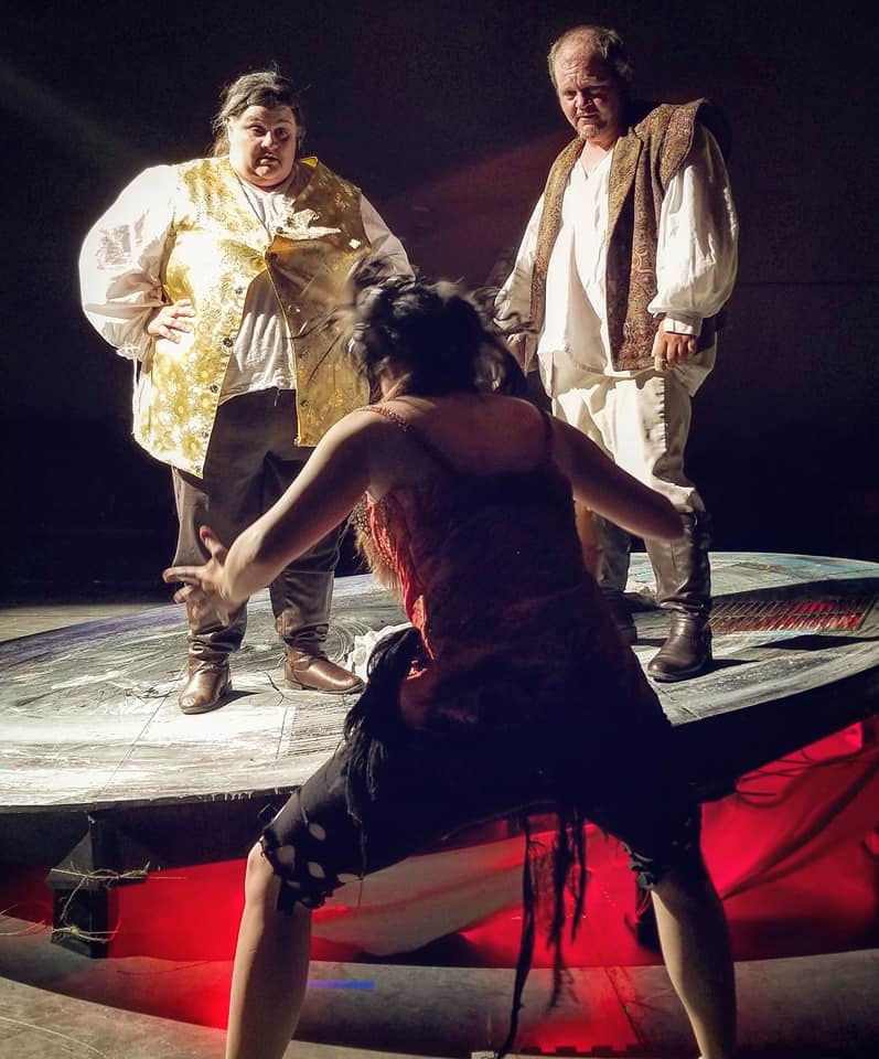 Emily Richman as Stephano in The Tempest, 2018