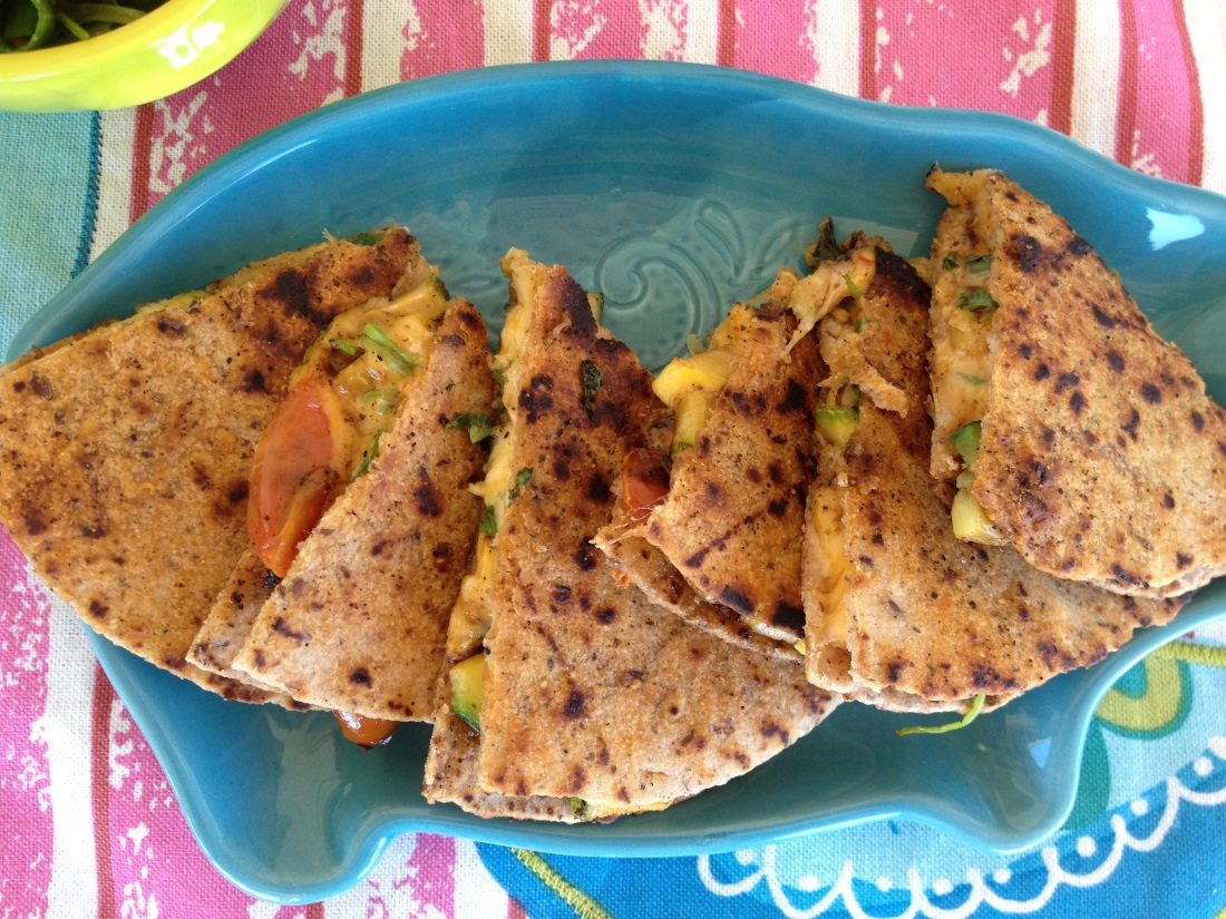 Summer squash quesadillas with queso fresco recipe