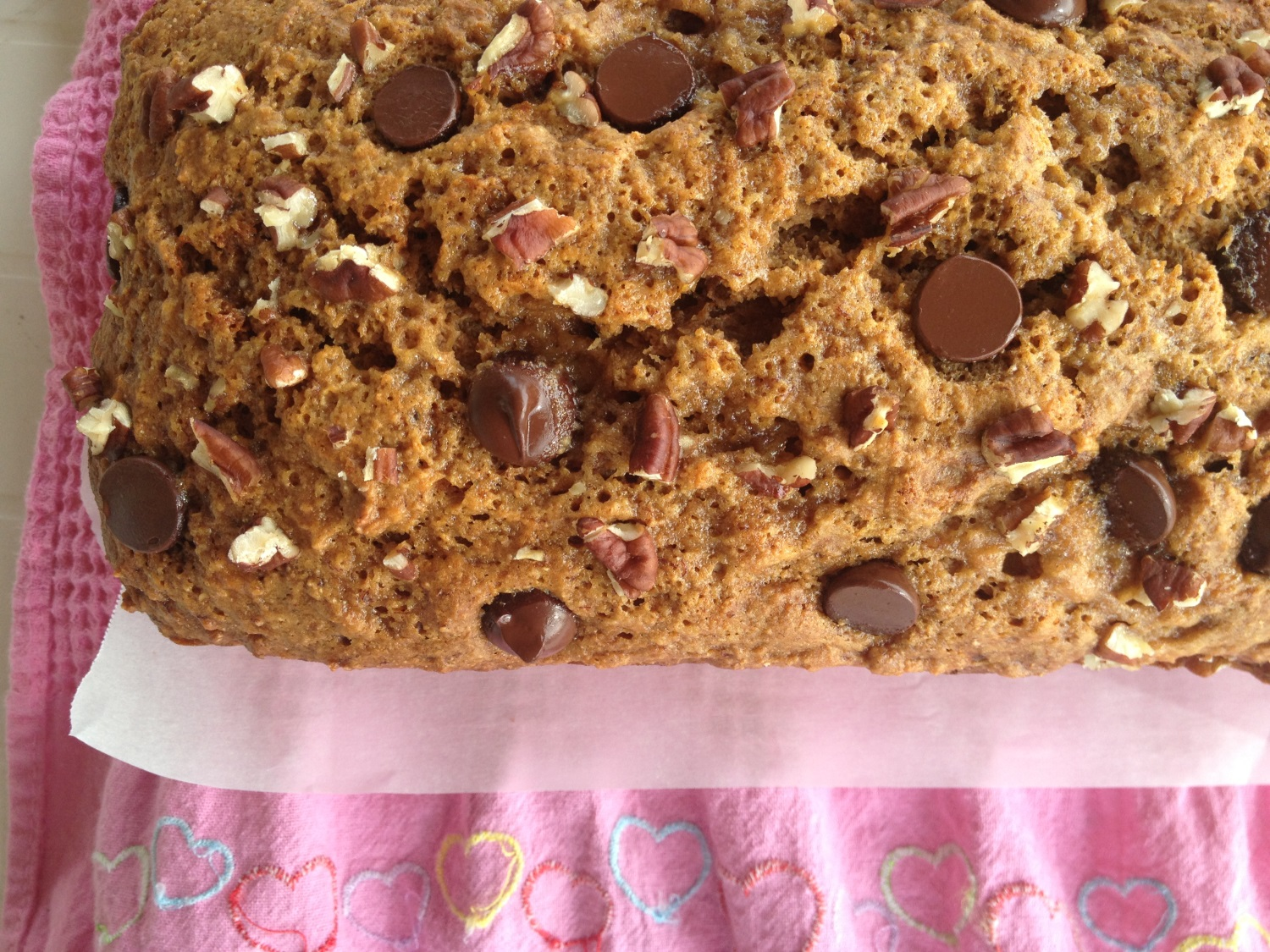 Healthy peanut butter banana bread recipe