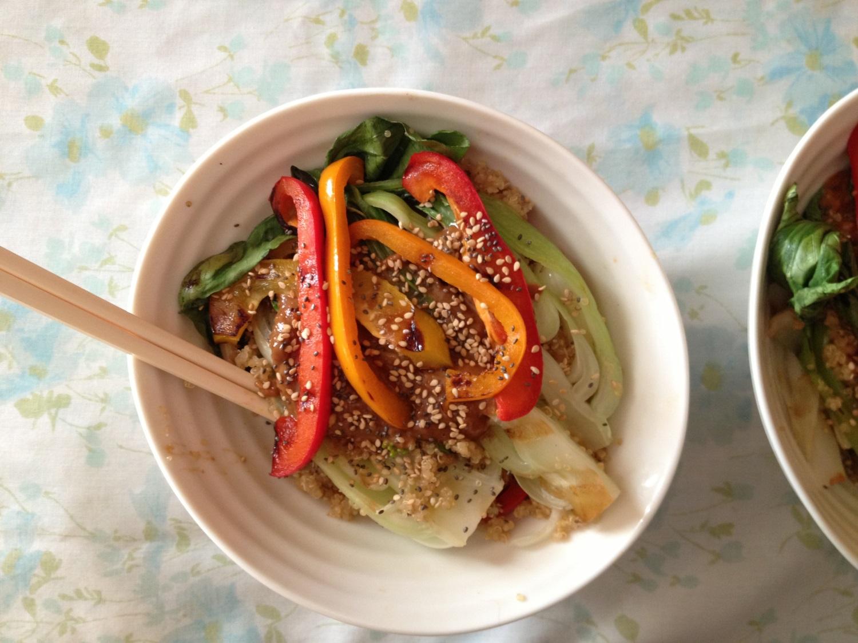 HealthyThai peanut stir fry recipe - FitCakery.com