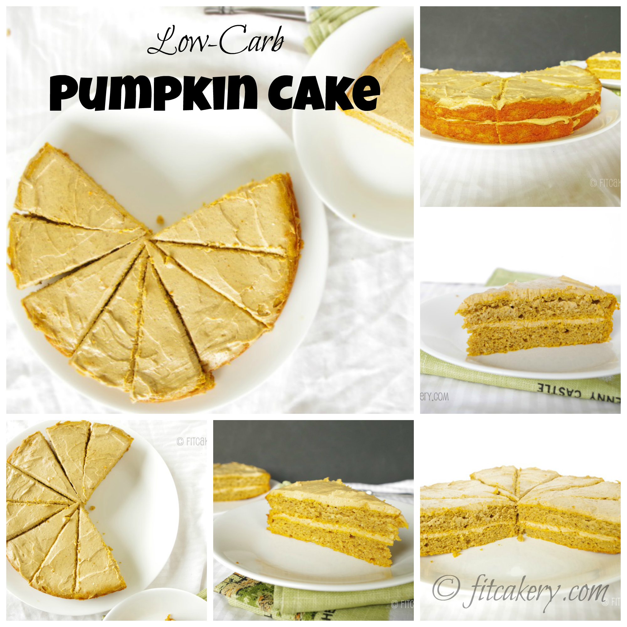 Gluten-free and low-carb spiced pumpkin cake is SO delicious and moist, with a decadent cream cheese frosting, I couldn't believe it!