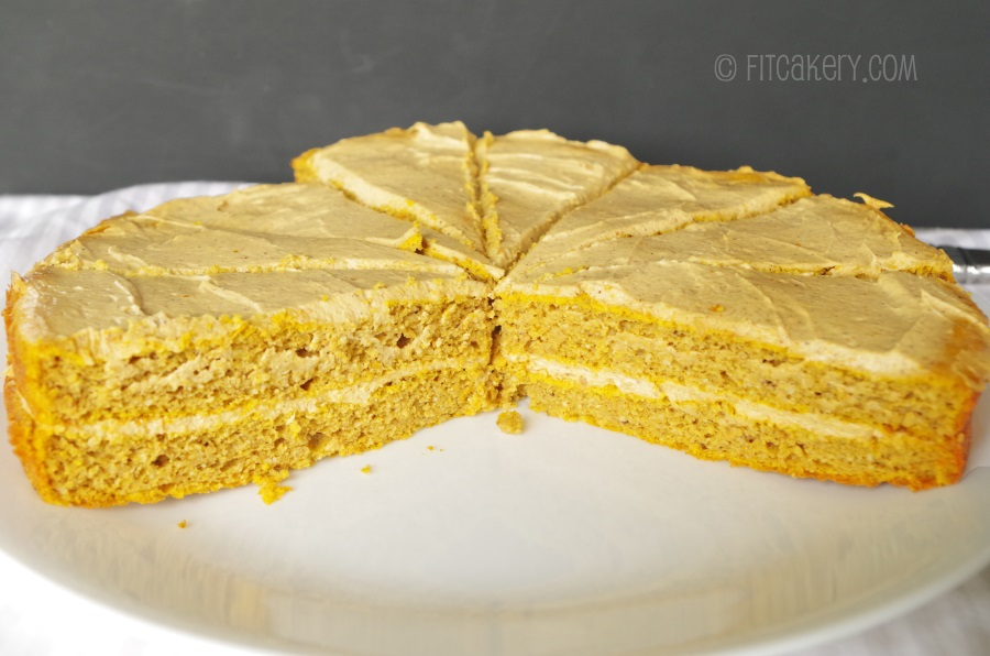 Low Carb Pumpkin Cake is really moist, even without all the sugar!