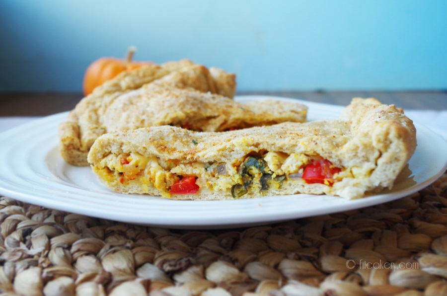 Calzones filled with pumpkin and seasonal veggies are just the comfort food for this season! #healthybaking