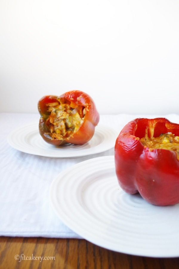 Baja Arizona {Pot Pie} Stuffed Peppers celebrates the season, kicking tradition up a notch! #healthycooking