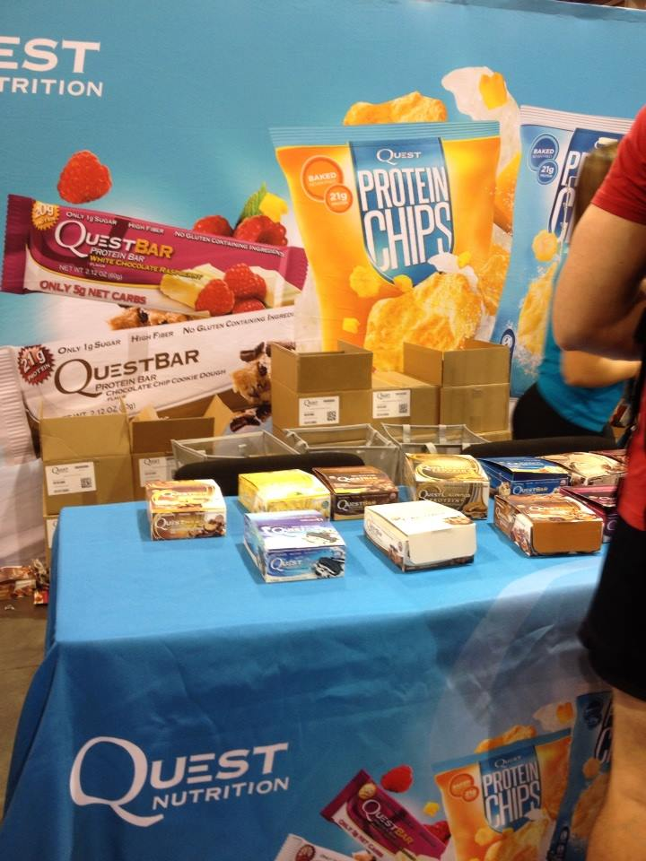 The #QuestNutrition booth was giving away whole bars to try at the #EuropaExpo!! YUM. Thanks, guys! #cheatclean!