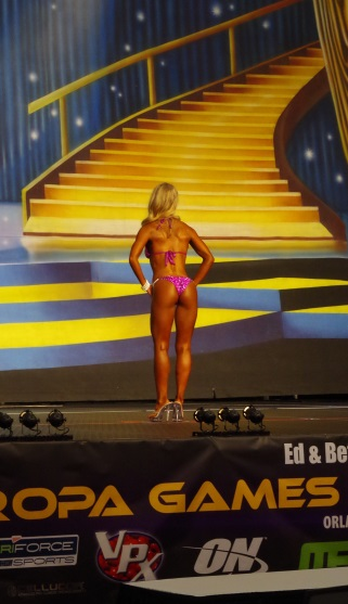 It's a small bikini, but not a wedgie, thanks to Liquid Sun Rayz and their help! Showin' off the glutes with #confidence!