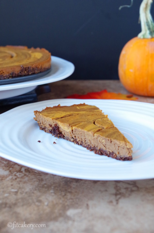 A   GLUTEN FREE twist on pumpkin pie recipe -  fitcakery.com