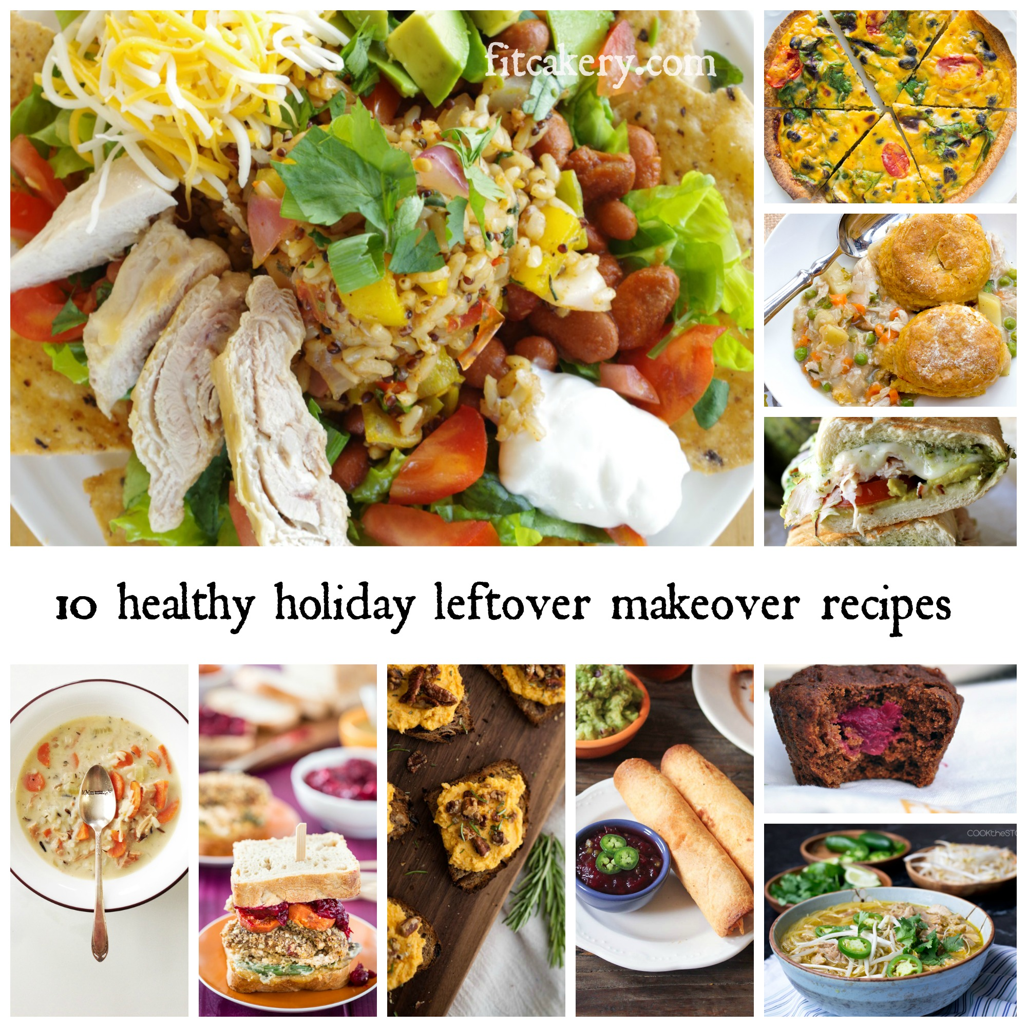 Holiday leftover MAKEover ideas that will blow your mind - and keep you on a healthy track! #healthyholidayrecipes