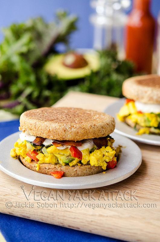 http://veganyackattack.com/2013/07/12/tofu-scramble-breakfast-sandwiches/