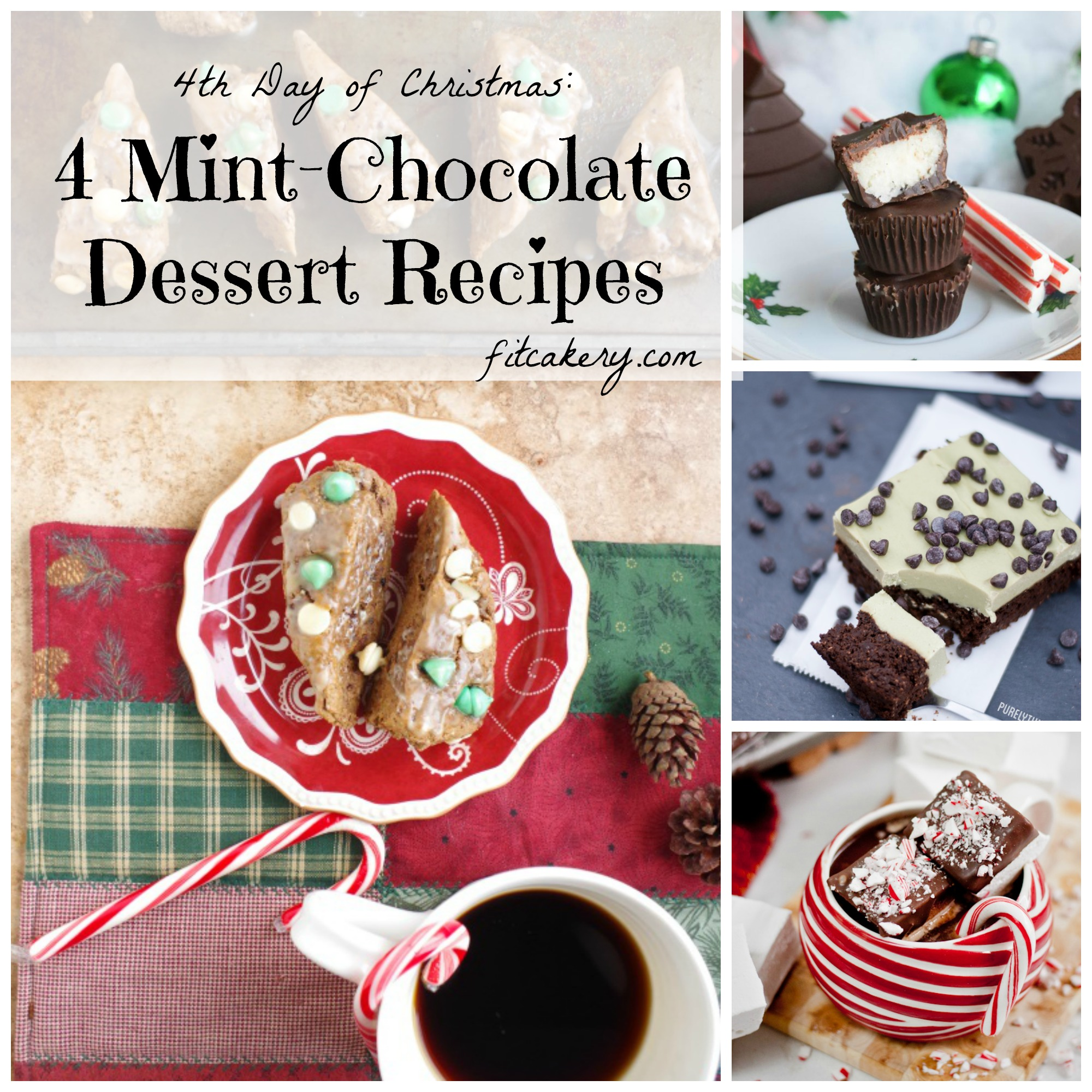 4 secretly healthy homemade mint-chocolate desserts to share this holiday! #dessertrecipes