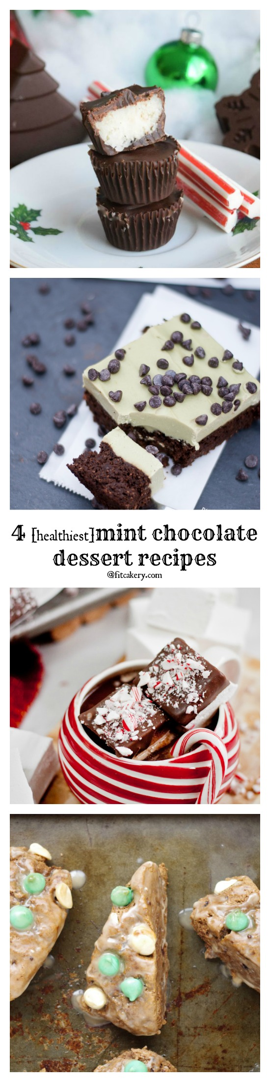 4 of the best ever mint chocolate dessert recipes - because they're secretly healthy! #healthybaking