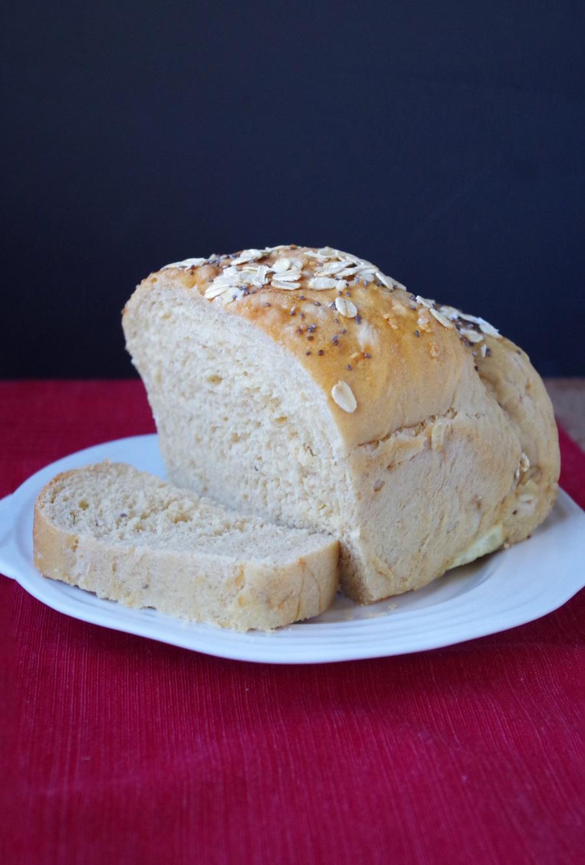Homemade Whole Wheat Sandwich Bread Recipe - FitCakery.com