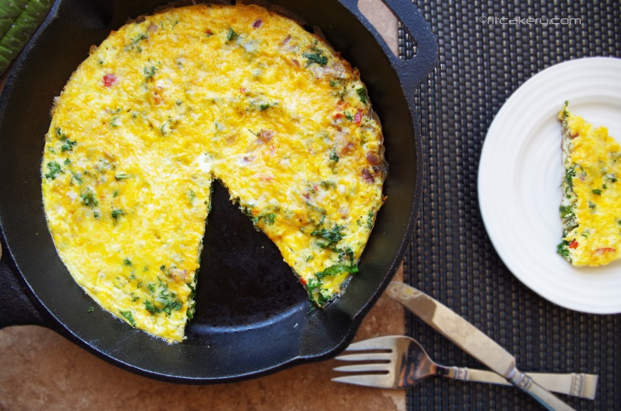 Powered Up Breakfast Frittata Recipe- FitCakery.com
