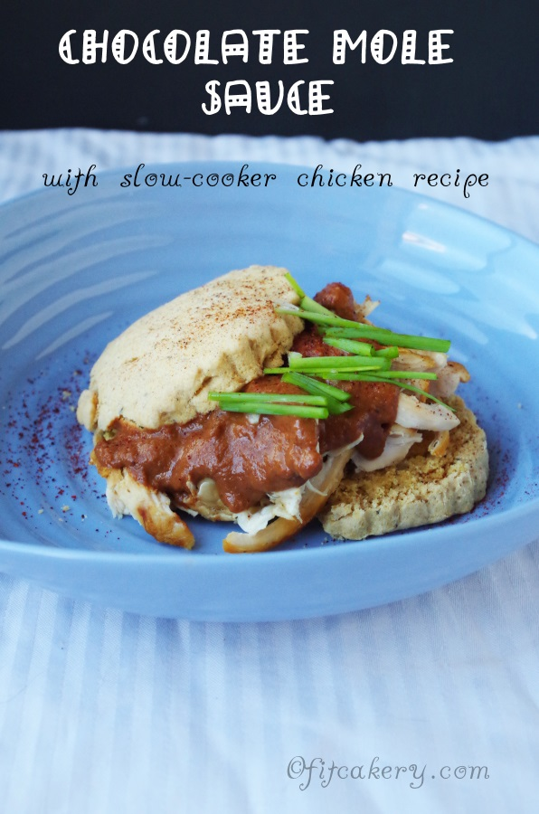 Chocolate Mole Sauce with Chicken on a Biscuit - FitCakery.com