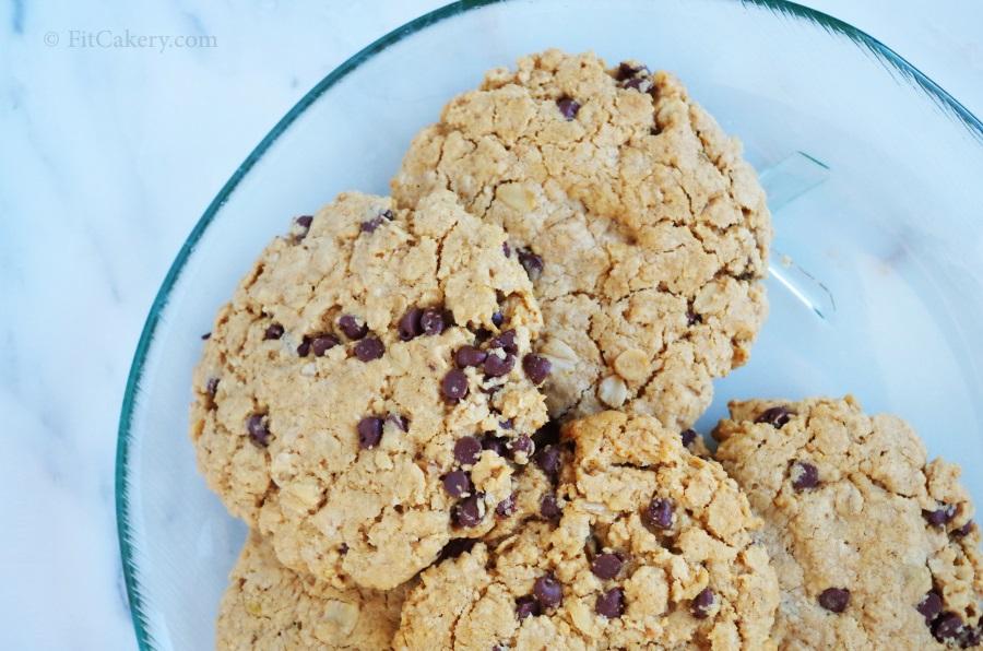 Fancy Peanut Butter Chocolate Chip Cookies  (gluten-free)