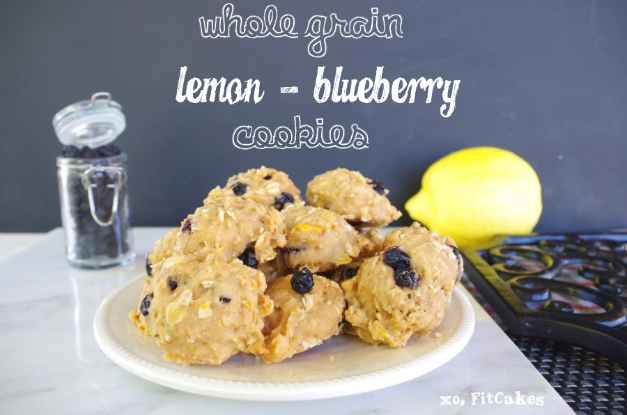 Whole Grain Lemon-Blueberry Cookies