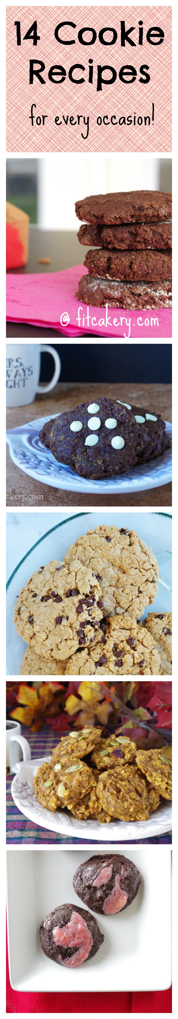 The Best Healthy Cookie Recipes from FitCakery.com! Pin to Save!