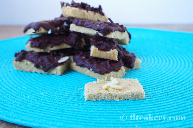 Delicious, gluten, grain, and dairy-free Almond Joy Shortbread Cookies are perfect to make and share! | FitCakery.com