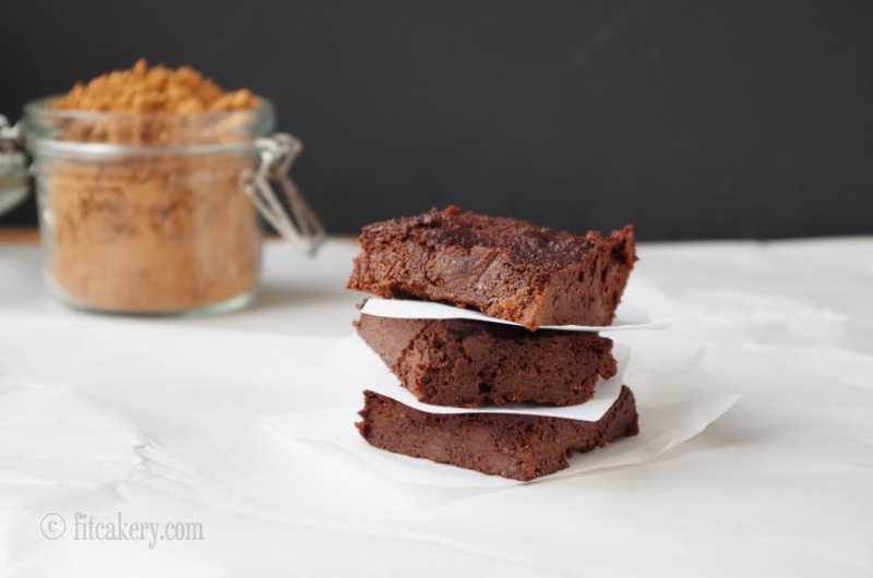Fudgy, delicious, and healthy brownies - gluten-free and made with beets! - FitCakery.com