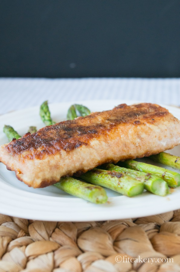 Restaurant-Style  Pan-Seared Salmon Fillets Recipe -FitCakery.com