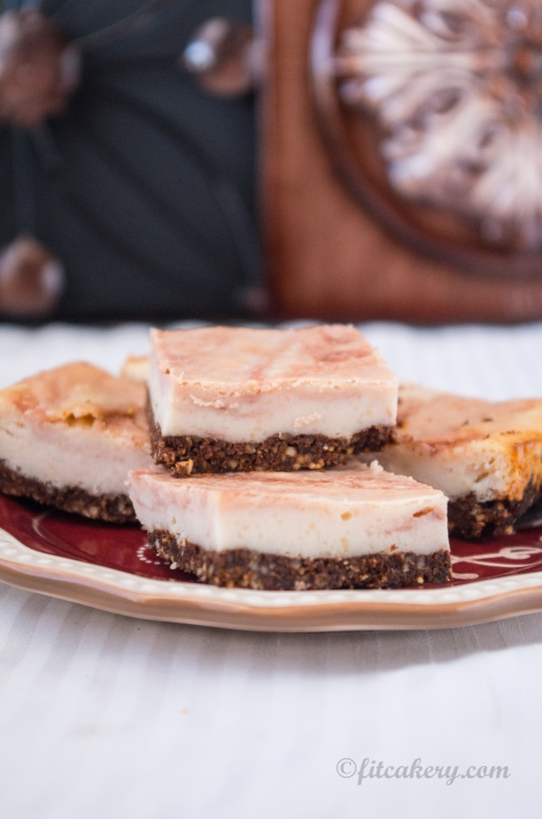 The best cheesecake ever - a port reduction cheesecake that's vegan + gluten-free! - FitCakery.com